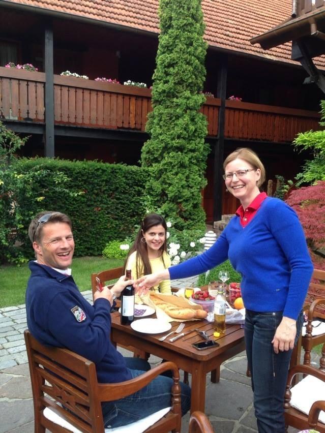 breakfast at Hotel A'La Ferme, Angel kissing spring, cherries, Strawberries, Gais Switzerland