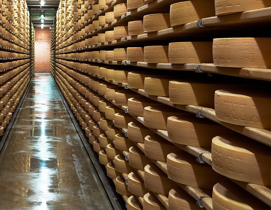 cheese factory, gruyere, Saane river, Switzerland