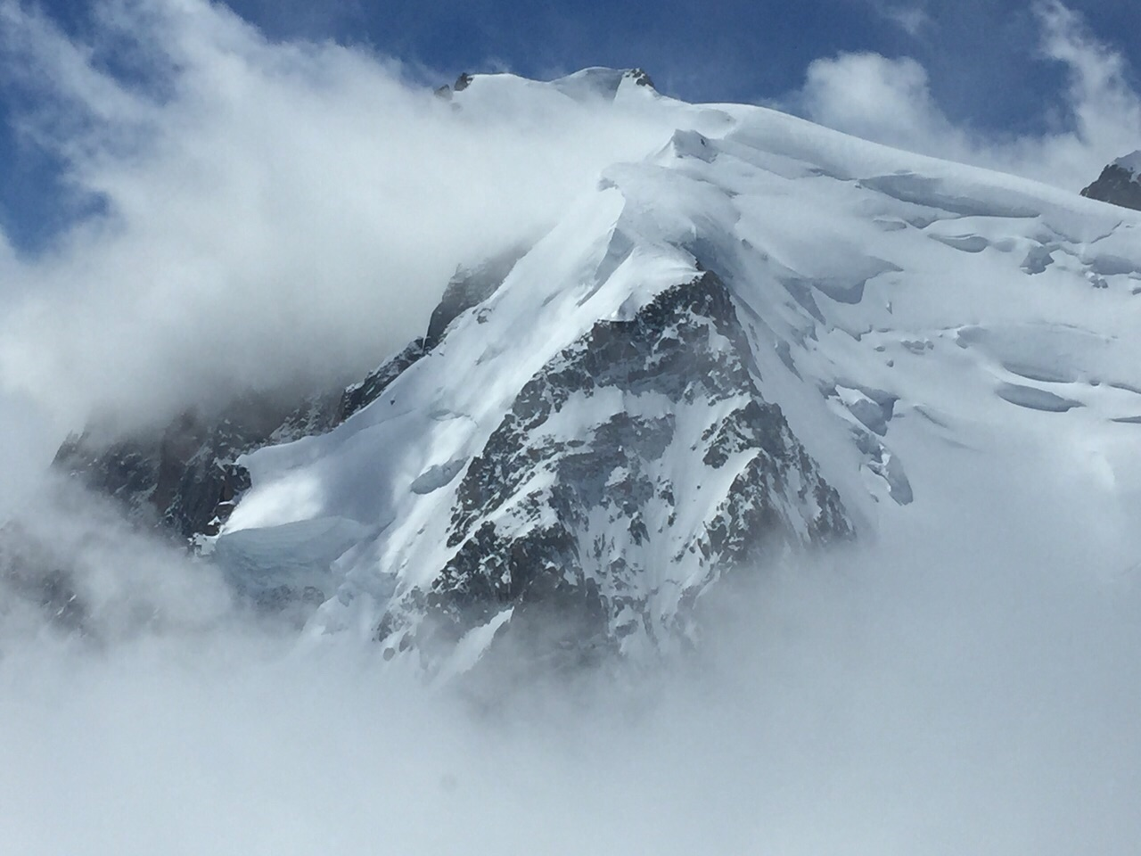 top view to mont blanc