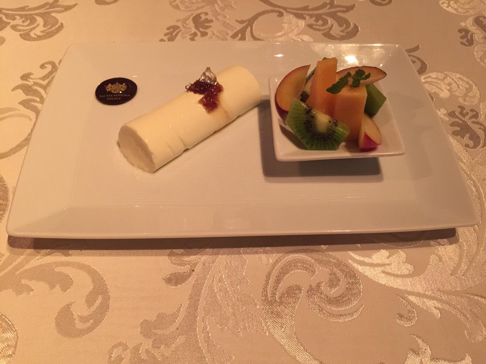 italian meal - taj falaknuma