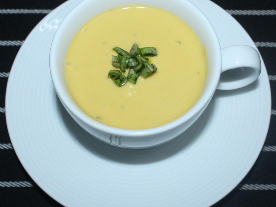 Mango basil soup - taj falaknuma