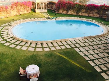 Naila Fort swimming pool, jaipur, naila fort, Oberoi RajVilas, puppets, rajasthani