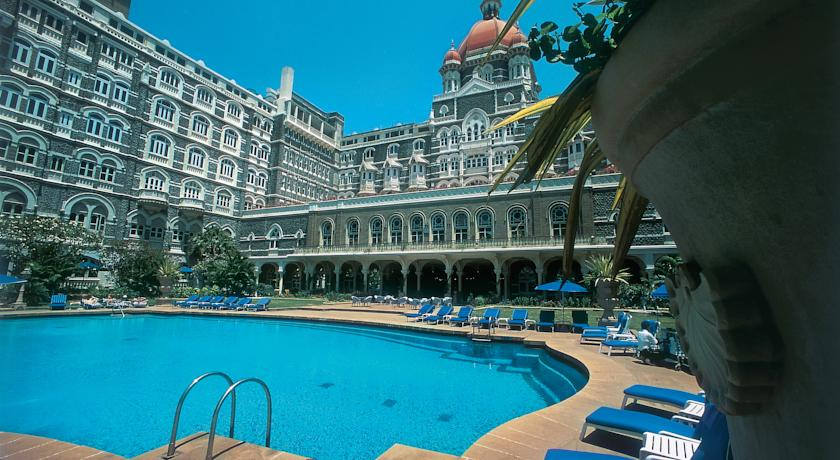 taj hotel swimming pool, hotel taj, taj mahal, indulgence at the taj mahal, mumbai