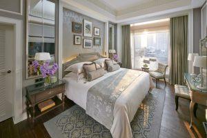 mandarin hotel garden bedroom