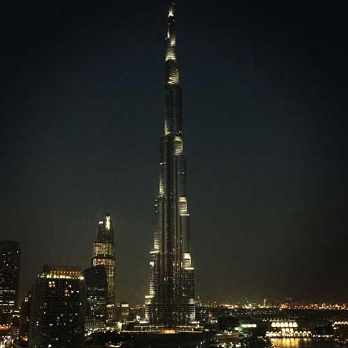 burj khalifa view - hotel taj