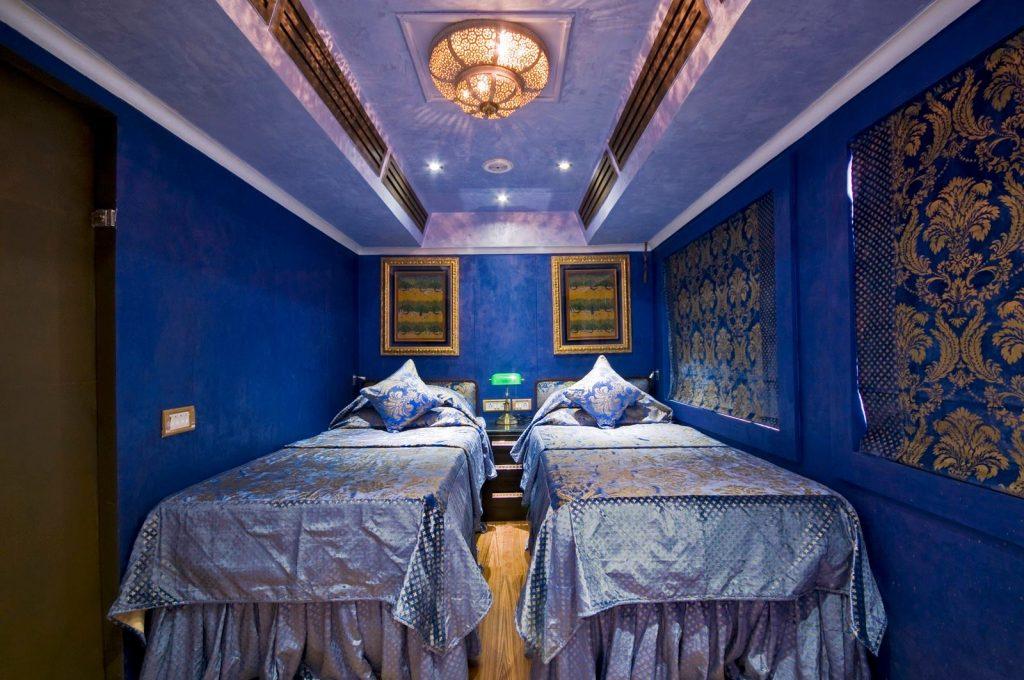 Palace on Wheels train cabin