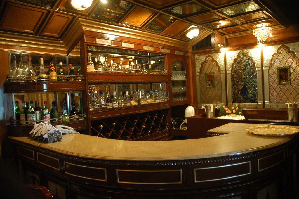 Bar at rajastan on wheel train