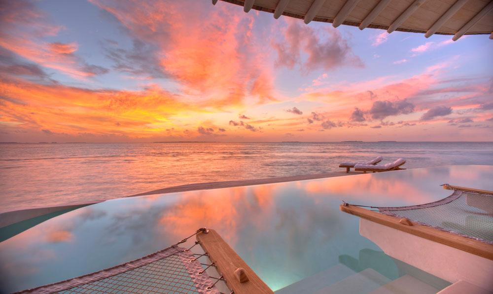 sunset view soneva, blue lagoon, cinema paradiso cinema, medhufaru island, mike dalley, so starstuck, soneva jani, the gathering, will smith