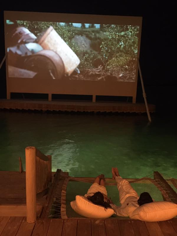cinema paradiso soneva jani, blue lagoon, cinema paradiso cinema, medhufaru island, mike dalley, so starstuck, soneva jani, the gathering, will smith