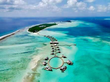 soneva jani villas aerial view