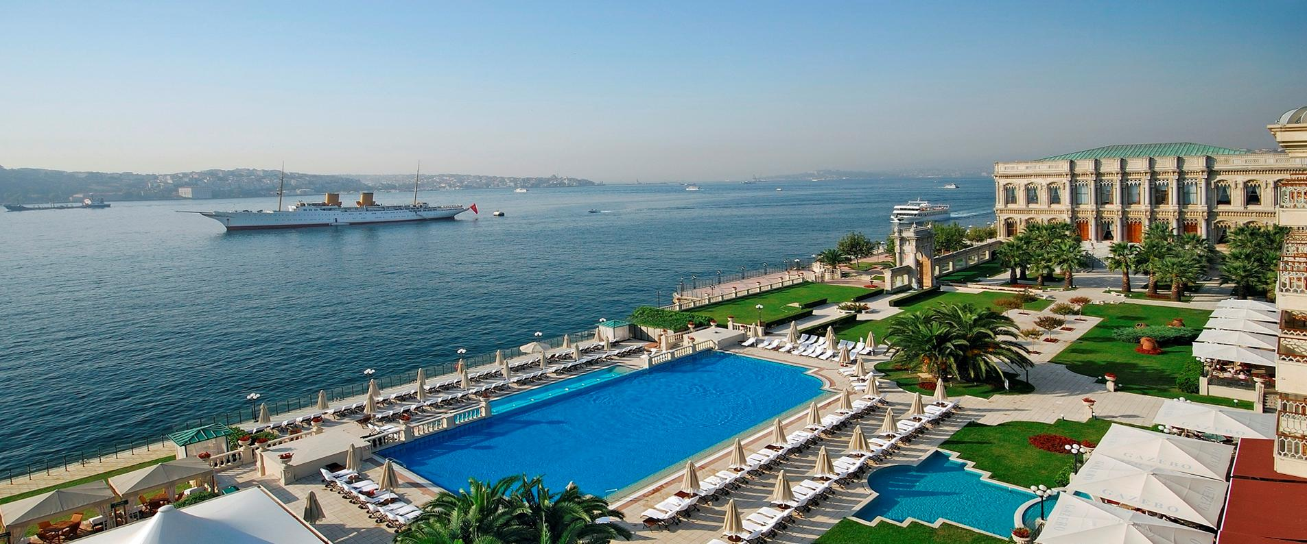 Ciragan Palace Kempinski Istanbul, Neo-Baroque style Ortakoy Mosque, Ortakoy Pier Square, Tugra Turkish restaurant, Istanbul luxurious hotel,