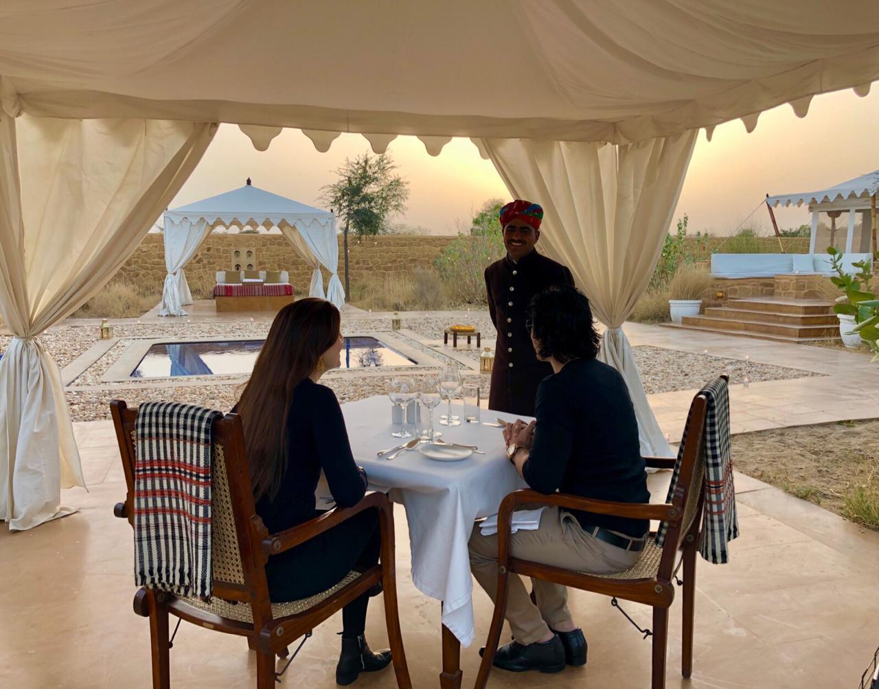 Breakfast at serai, serai sujan jaisalmer, sujan the serai jaisalmer, the serai jaisalmer, The Serai Sujan,