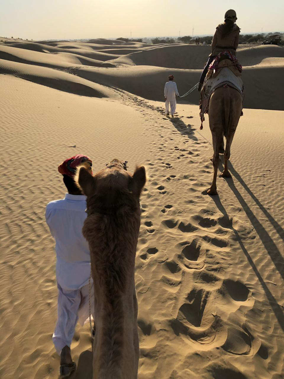 Laveena Mitha camel ride at serai, serai sujan jaisalmer, sujan the serai jaisalmer, the serai jaisalmer, The Serai Sujan,
