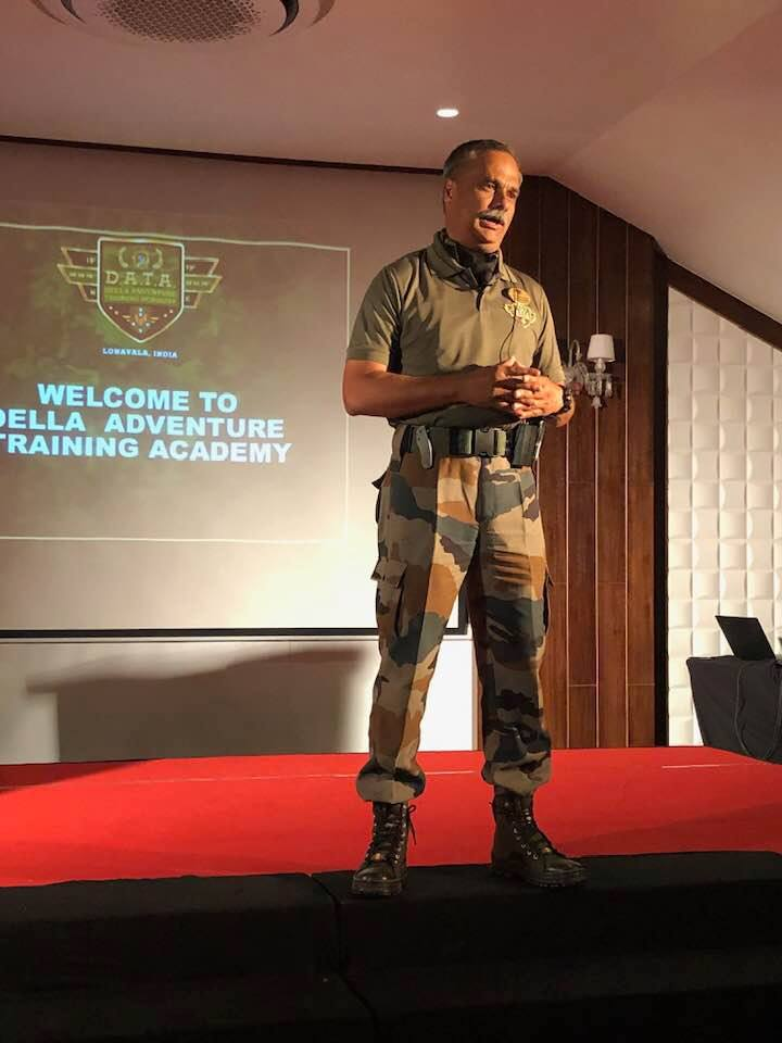 Lt. General Noronha at DATA lonavala, Della Adventure Training Academy, Gurkha Lounge DATA, data military camp, della data lonavala,